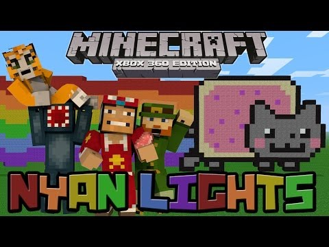 ♠ Minecraft Xbox: Nyan Lights Race - Fail Montage ♠