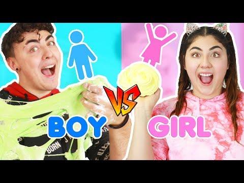 WHO CAN MAKE SLIME FASTER ~ BOY VS GIRLS   Slimeatory #357