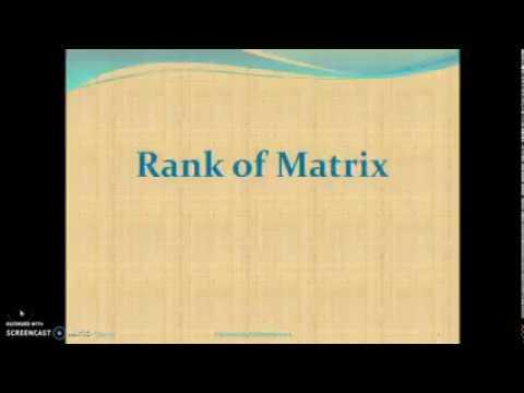 Rank of matrix using row echelon form
