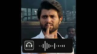 Vijay Devarakonda nota BGM WhatsApp status||BADTONES