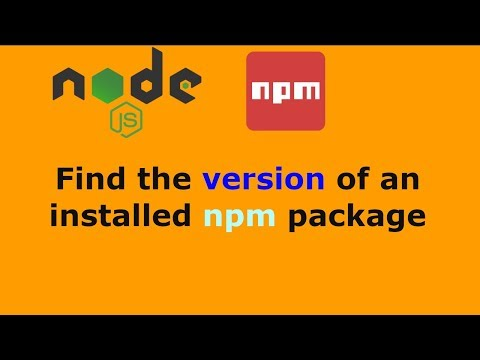 How to Find the version of an Installed NPM Package