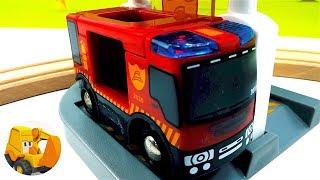 Bomberos para niños - Camiones de bomberos - La estación de bomberos