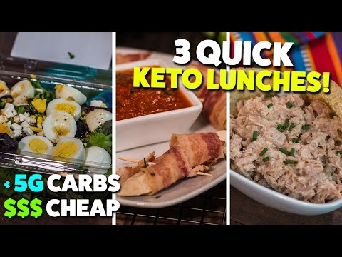 3 Quick & Cheap KETO Lunches On-the-Go!