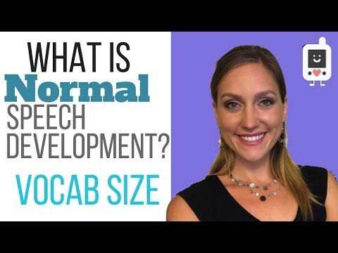 What is Normal Speech Development? VOCABULARY SIZE