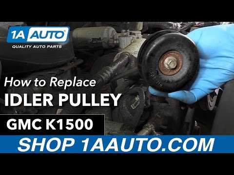 How to Replace Install Idler Pulley 96 GMC Sierra K1500