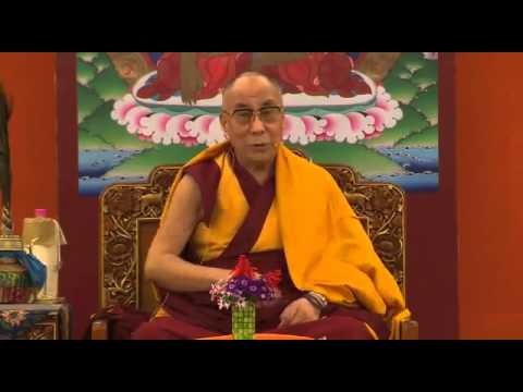 Breathing meditation training by the Dalai Lama