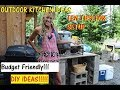 Off Grid Outdoor Kitchen Tour  AND BUDGET TIPS TO DO!!!!