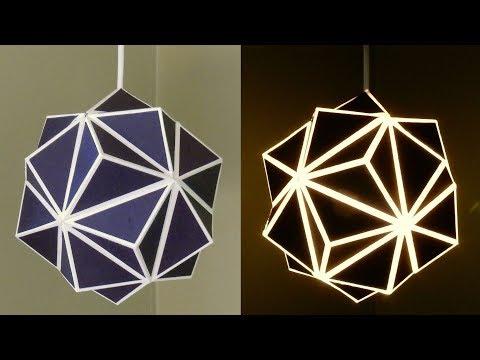 Geometric lamp - how to make a geometric paper lampshade - EzyCraft