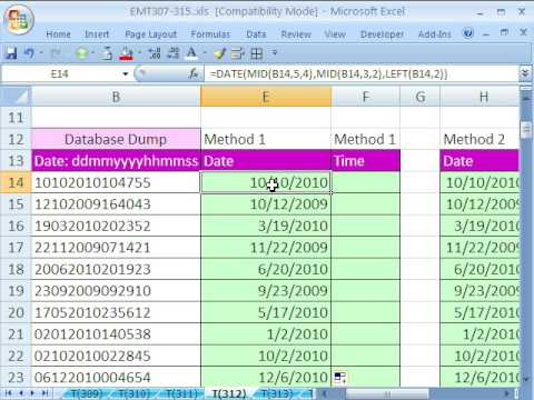 Excel Magic Trick 312: Extract Date & Time From Text String