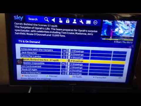 Sky Catch Up, On Demand Update. 05/12/13