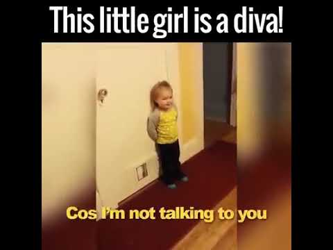 Funy baby argue with parents