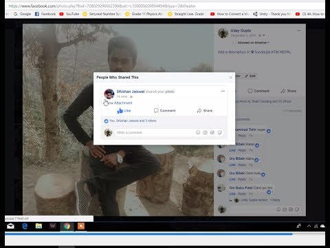 How to know who shared your post on Facebook 2018