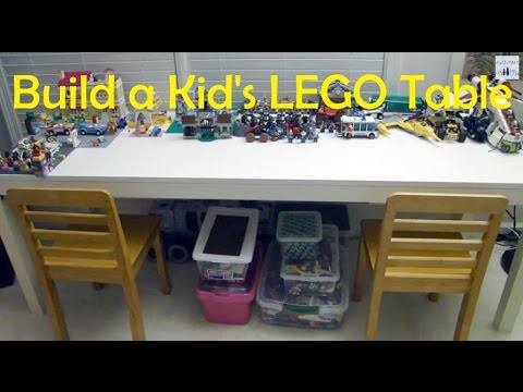 Build a Table for the Kids to Play LEGO