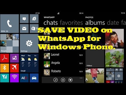 How to save/share video on WhatsApp for Windows Phone.