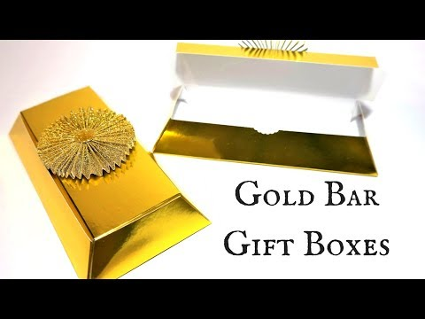 Unusual Gold Bar/Ingot Gift Boxes | Video Tutorial