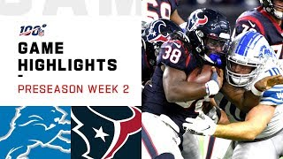 Lions vs. Texans Preseason Week 2 Highlights   NFL 2019