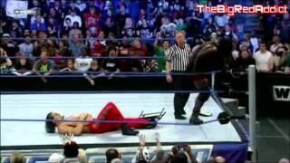 The Great Khali Injured (Mark Henry Breaks Khali