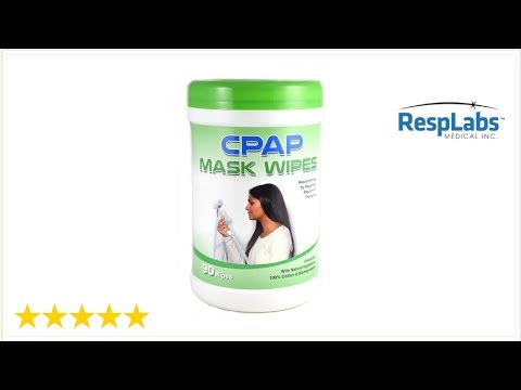 CPAP Mask Wipes | How To Clean Your CPAP Mask w/ CPAP Mask Cleaning Wipes By RespLabs | Sleep Apnea