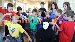 Nerf War:  Kidz Squad Unmasked The Game Master (The White Hat)