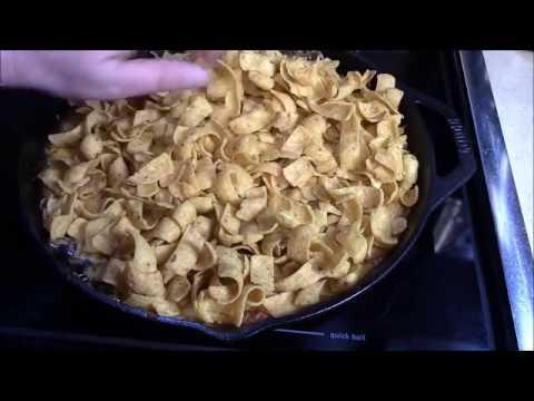 Frito Pie in Cast Iron Skillet