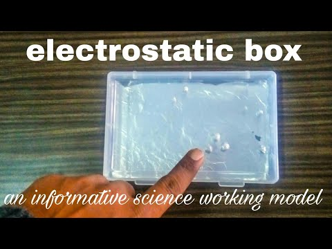 electrostatic box | science working model