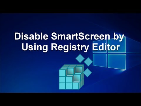 Disable SmartScreen by Using Regedit