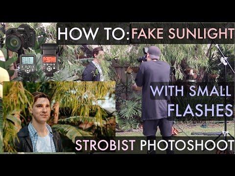 How to Fake Sunlight w/ Hotshoe Flashes STROBIST Lighting Tutorial