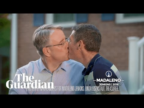 'Take that Trump': gay politician kisses husband in US campaign ad first