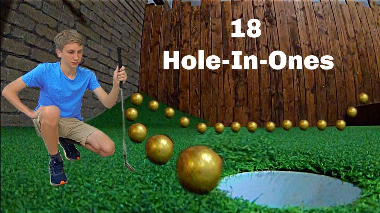 Scoring 18 HOLE-IN-ONES *Mini Golf Trick Shots* | That's Amazing