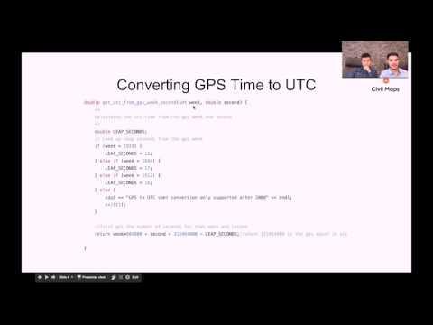 02 Webinar II || GPS & IMU - GPS Time to UTC Epoch Time
