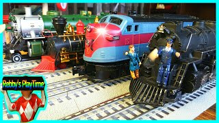 Toy Train Videos For Toddlers, Kids, Baby W Nursery Rhymes. Thomas and Friends, Diesel, Steam Train.