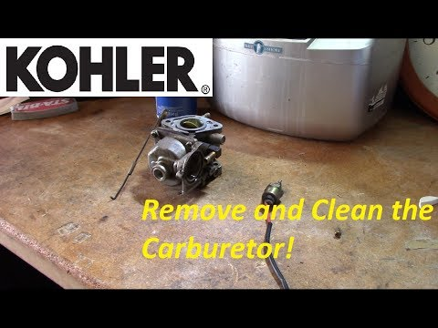 Kohler CV Series V-Twin Carb Removal and Cleaning