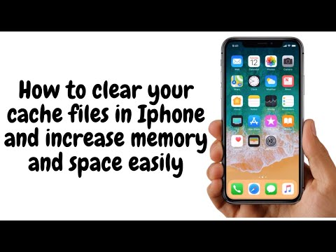 How to clear your cache files in iphone and increase memory and space easily