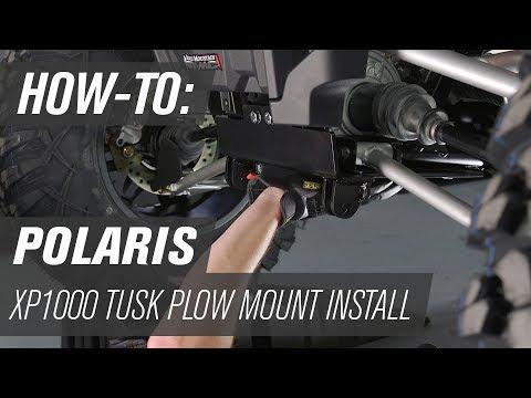 How To Install the Tusk SubZero Snow Plow Mount on a Polaris XP1000