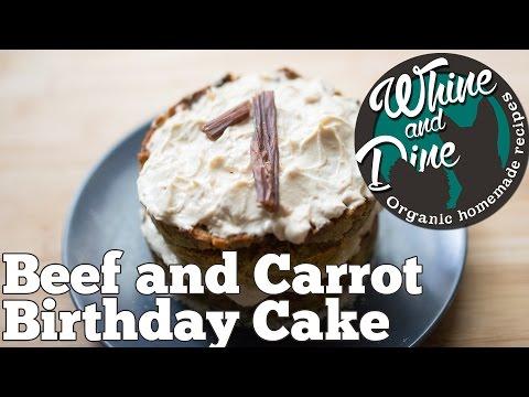 Beef and Carrot Layered Cake | Homemade Dog Birthday Cake