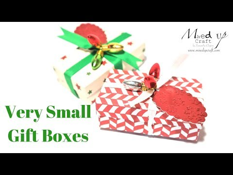 Very Small Gift Boxes Video Tutorial