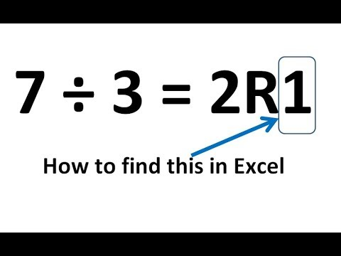 How to find the remainder of a division problem in Excel