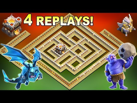 UNDEFEATED NEW TH11 War Base 2019 With 4 Replays Anti E