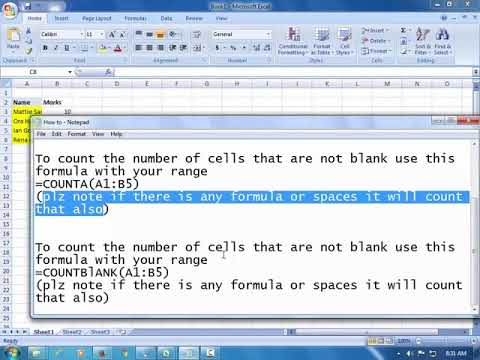 How to use Count Functions in Excel