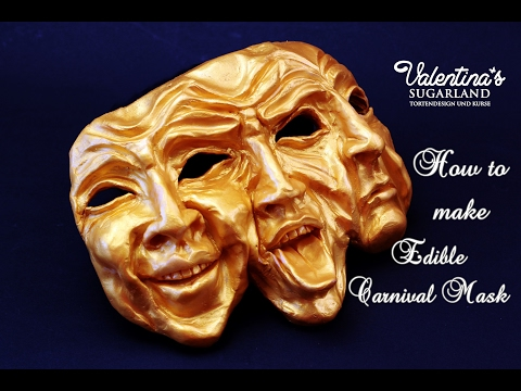 How to make a Chocolate Carnival Mask