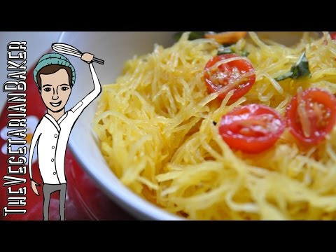 How To Cook Spaghetti Squash | Easy Vegan & Gluten-Free Recipe | TheVegetarianBaker