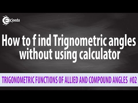 How To Find Trignometric Angles Without Using Calculator - Basic Mathematics - MSBTE Sem 1