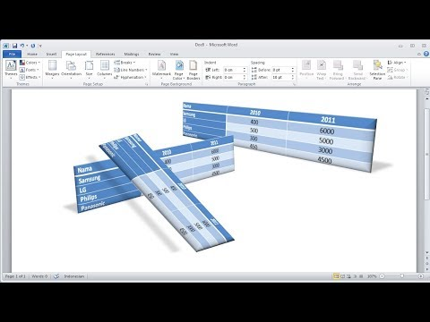 Microsoft word tutorial |How to Create 3D Table in Word