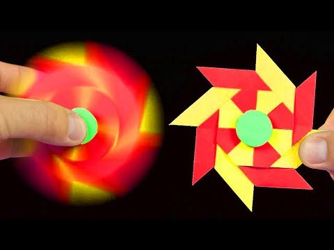 2 Awesome Origami Fidget Spinner - How To Make A Paper Fidget Spinner WITHOUT BEARINGS