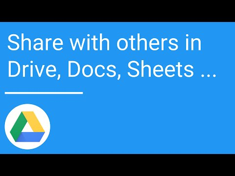 Share with others in Drive, Docs, Sheets, and Slides