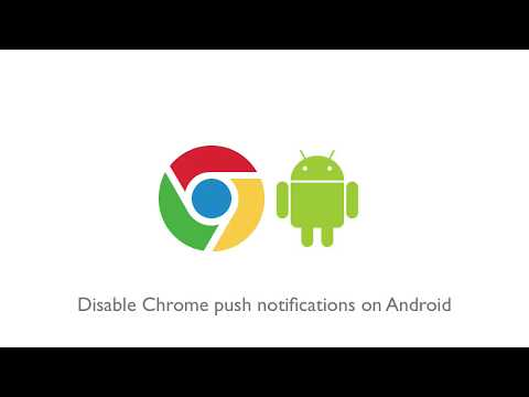 How To Disable Chrome Push Notifications On Android