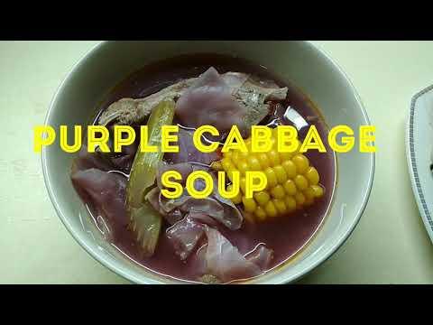 PURPLE CABBAGE SOUP/mhaicookingvlogs