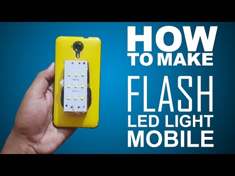 How To Make External Mobile Led flash Light Easy Way