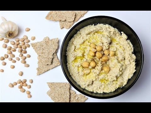 HOW TO MAKE HOMEMADE HUMMUS WITHOUT BUYING  TAHINI - BEST DIP EVER