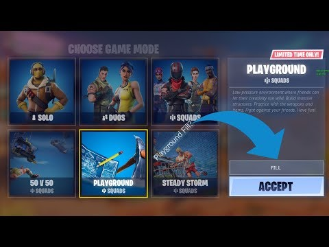 Fortnite l PC l PLAYING PLAYGROUND MODE WITH FILL ON?